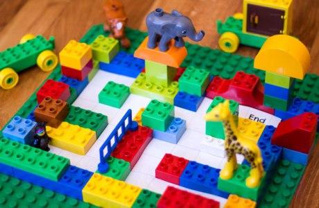Lego maze coding for kids