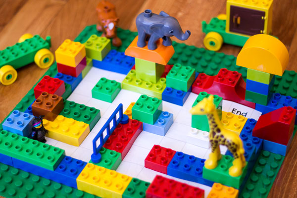 Lego maze coding for kids