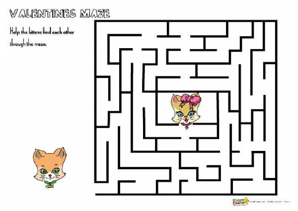 valentines cat maze