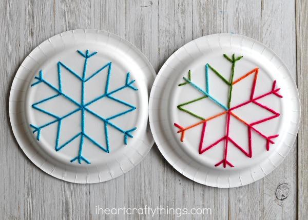 paper plate yarn art