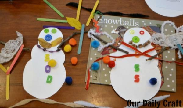 snowballs build a snowman project