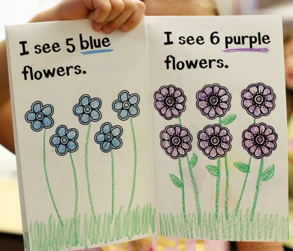 printable flower counting book