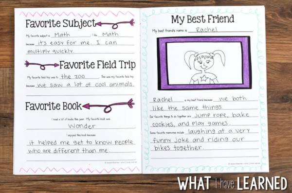 graphic regarding Memory Book Printable known as Finish of the 12 months Memory E-book Printable Lesson Strategies