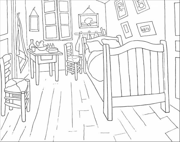 Coloring Pages from the Van Gogh Museum