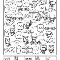 Halloween Counting and Coloring Sheets