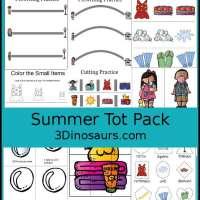 Summer Printable Pack for Preschool and Kindergarten