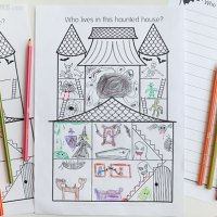 Haunted House Printable Drawing Prompt