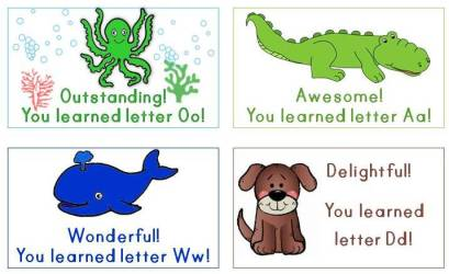 alphabet letter rewards