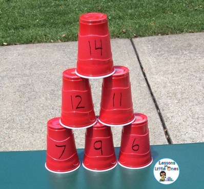 water squirting learning activity - cups