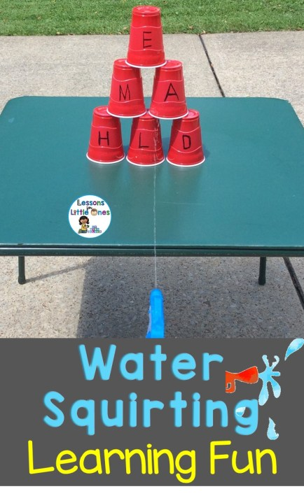 Water Squirting Fun Learning Activities