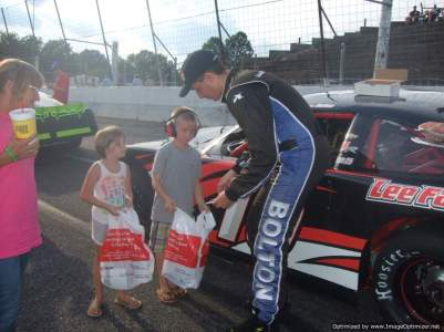 Book promotion with Justin Bolton racing