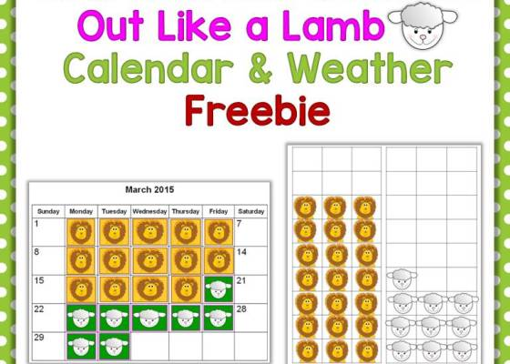 free March in Like a Lion Out Like a Lamb activity