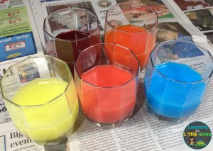 egg dyeing with Kool-Aid