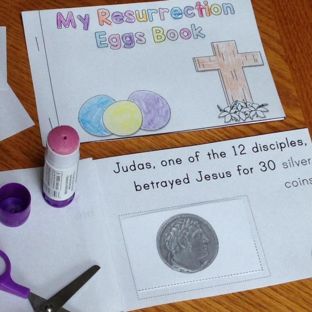 Resurrection Eggs student-made book
