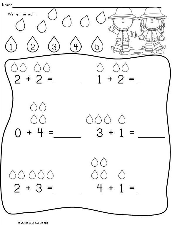 Spring Kindergarten Math Differentiated No Prep Activity