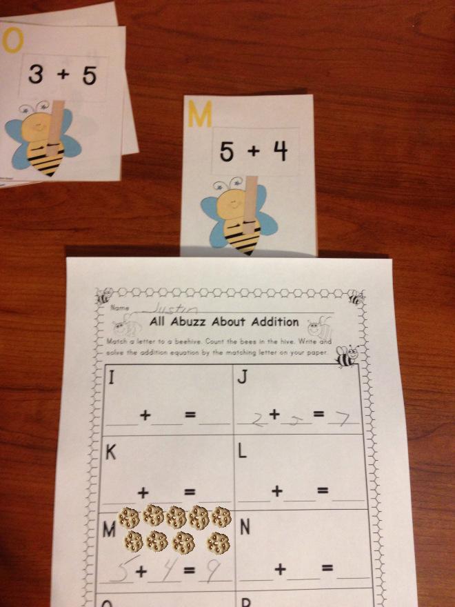 Addition & Subtraction Learning Center Kindergarten
