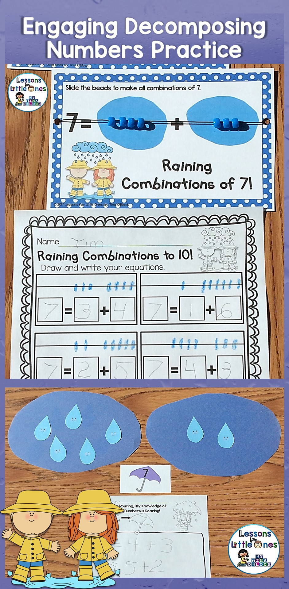 Decomposing Numbers 3-10 Center Activity, Equation Boards ...