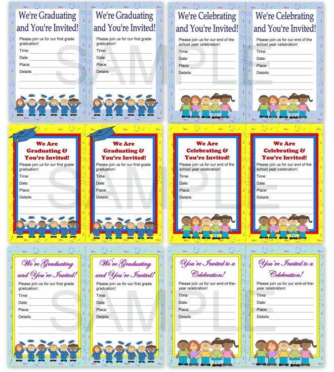 first grade graduation invitations