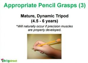 mature dynamic tripod pencil grasp