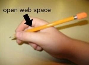 open web space mature tripod grasp