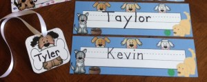 dog nametags, deskplates