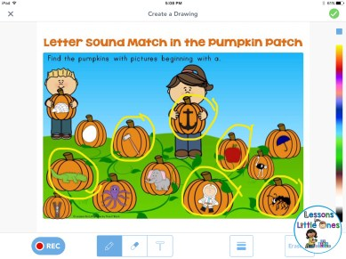 letter sounds practice using Seesaw app