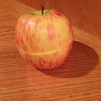 apple half whole