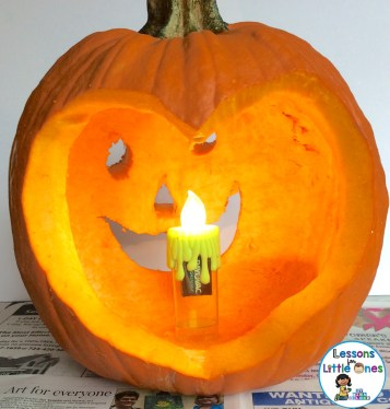 religious pumpkin carving activity - Jesus is the light of the world