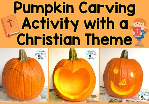 Christian pumpkin carving activity
