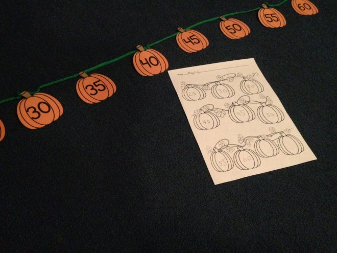 pumpkin skip counting