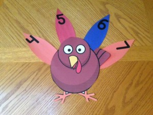 Thanksgiving turkey number sequencing