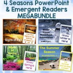 Seasons PowerPoint & Emergent Reader MegaBundle