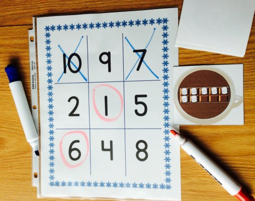 math number sense tic tac toe game