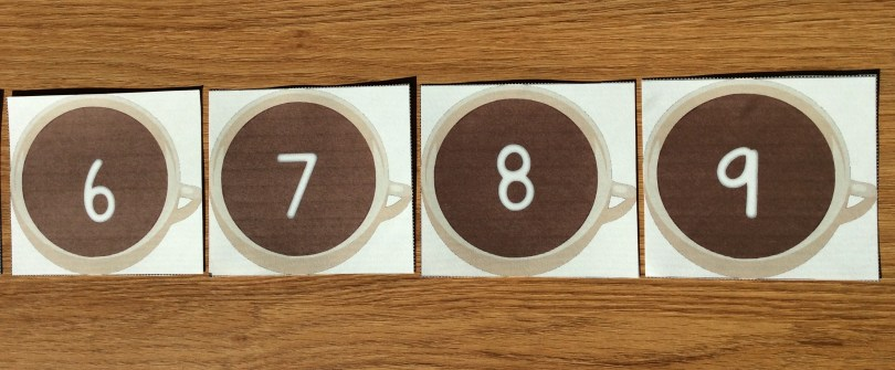 math cards number sequencing