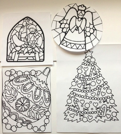 Coloring page : Bell stained glass - Coloring.me | 534x480