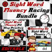Sight Word Fluency Racing Bundle