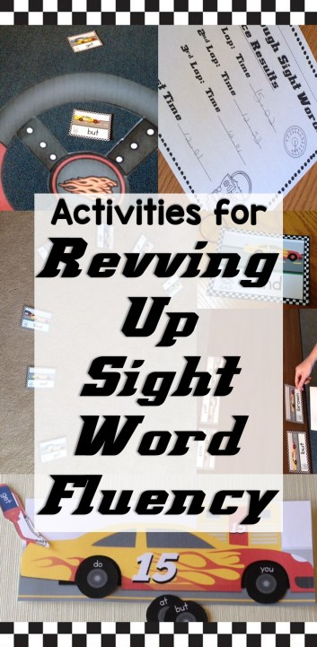Activities for Revving Up Sight Word Fluency