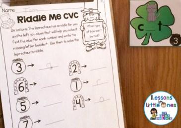 St. Patrick's Day CVC Words Around the Room