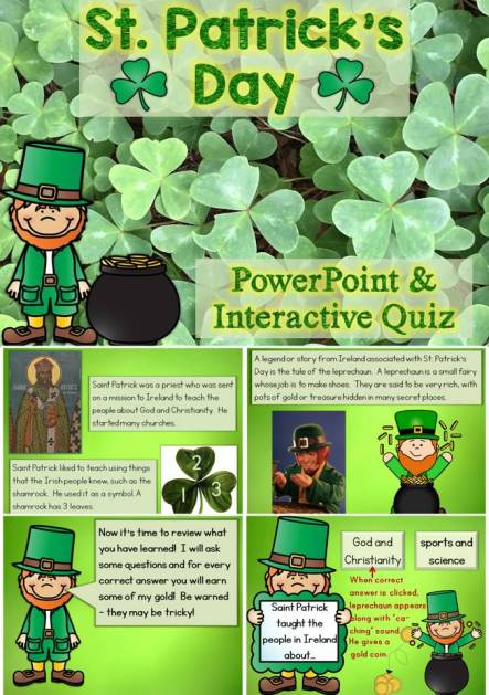 St. Patrick's Day PowerPoint and Interactive Quiz
