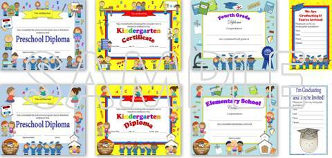 editable diplomas & graduation invitations