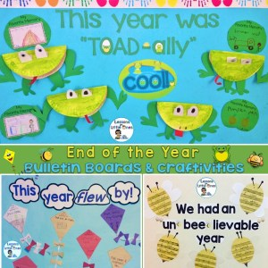 end of year bulletin boards spring