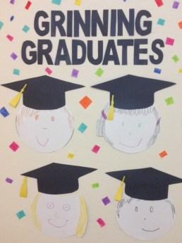 Grinning Graduates Graduation Bulletin Board