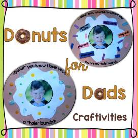 Donuts for Dad Crafts, Craftivities (Father's Day Gifts)