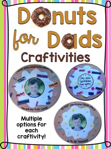 Donuts for Dads crafts Father's Day gift