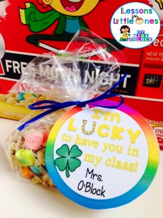 back to school student gift tag for Lucky Charms cereal