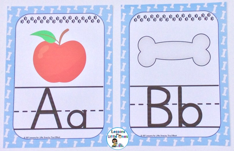 alphabet posters dog theme