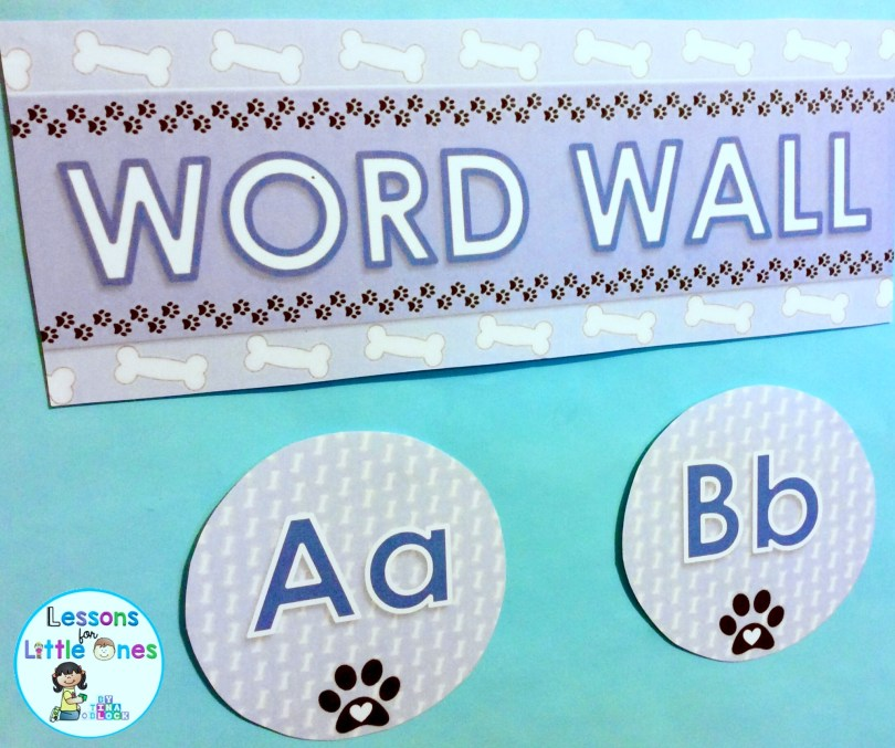 word wall dog theme
