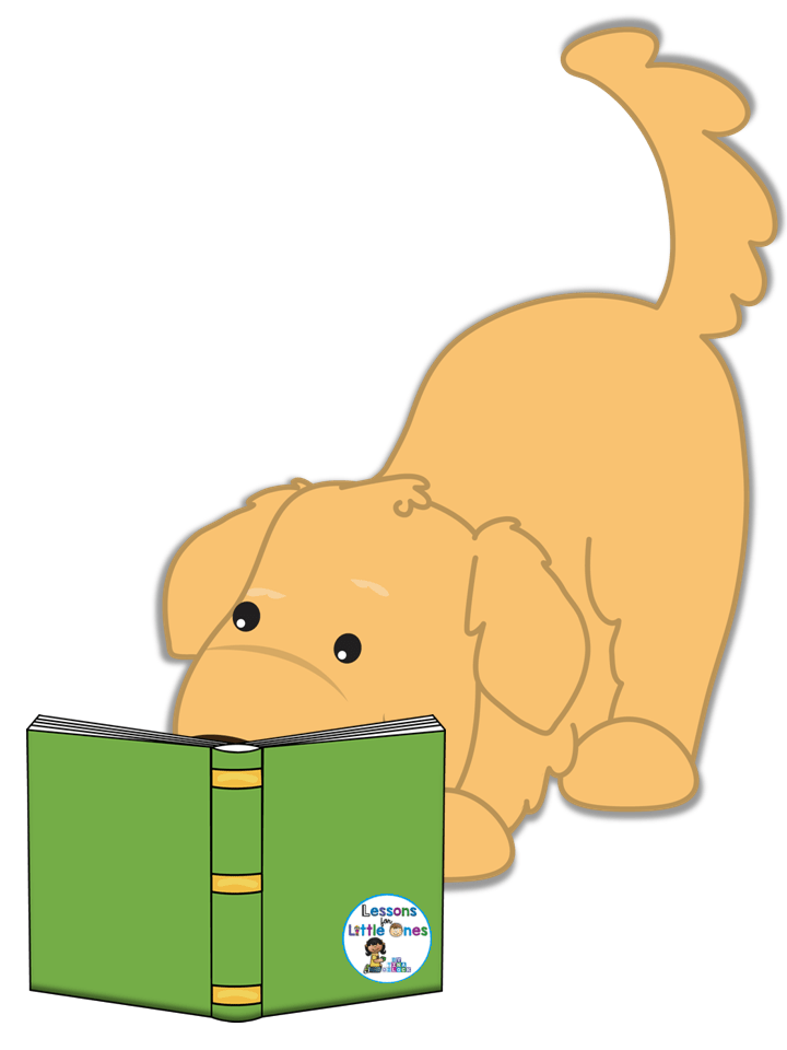 dog sign for book area
