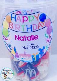 student birthday gift tag