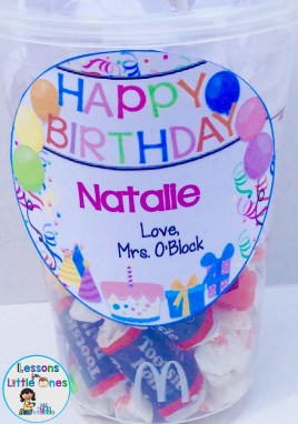 student birthday gift tag